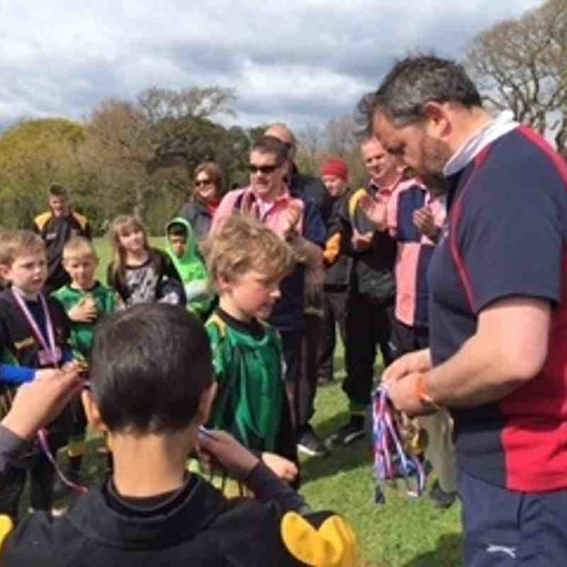 Minis at Vectis Festival of Mini Rugby (2016)