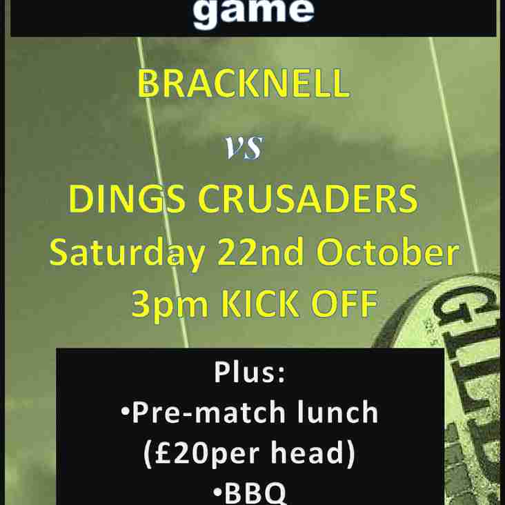 Next 1XV home  game: 22nd Oct v Dings Crusaders
