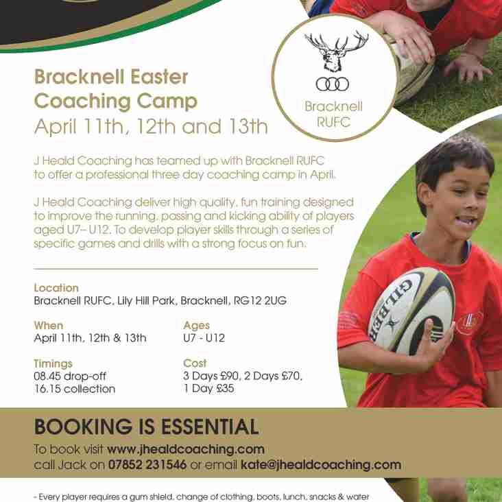 J Heald Easter Rugby Camp