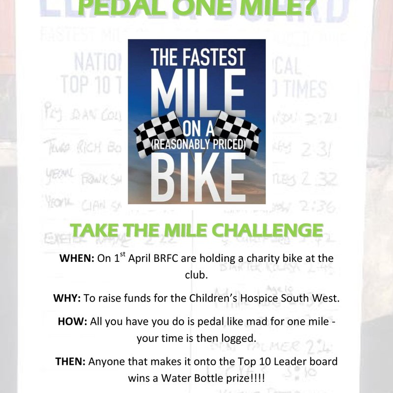 Can you pedal one mile?