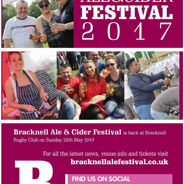 Bracknell Ale & Cider Festival - 28th May 2017