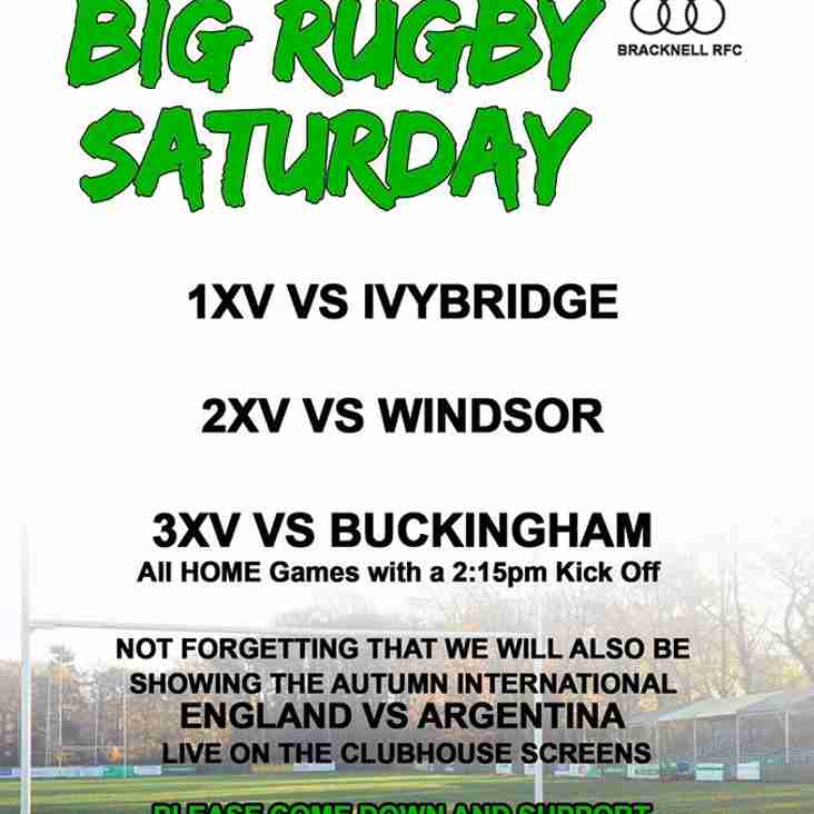 Big rugby Saturday at BRFC