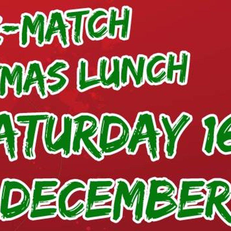 Xmas Pre Match Lunch