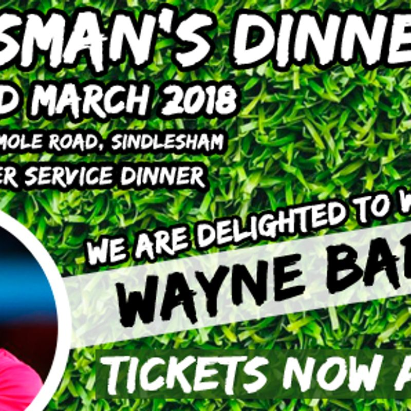 Sportsman's Dinner - Friday 23rd March 2018