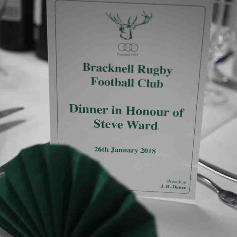 Steve Ward Dinner (26th Jan 2018)