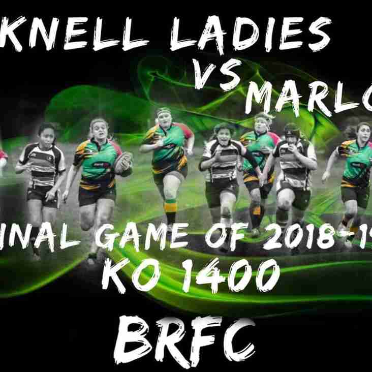 Ladies Final Game of the Season - Sunday 7th April