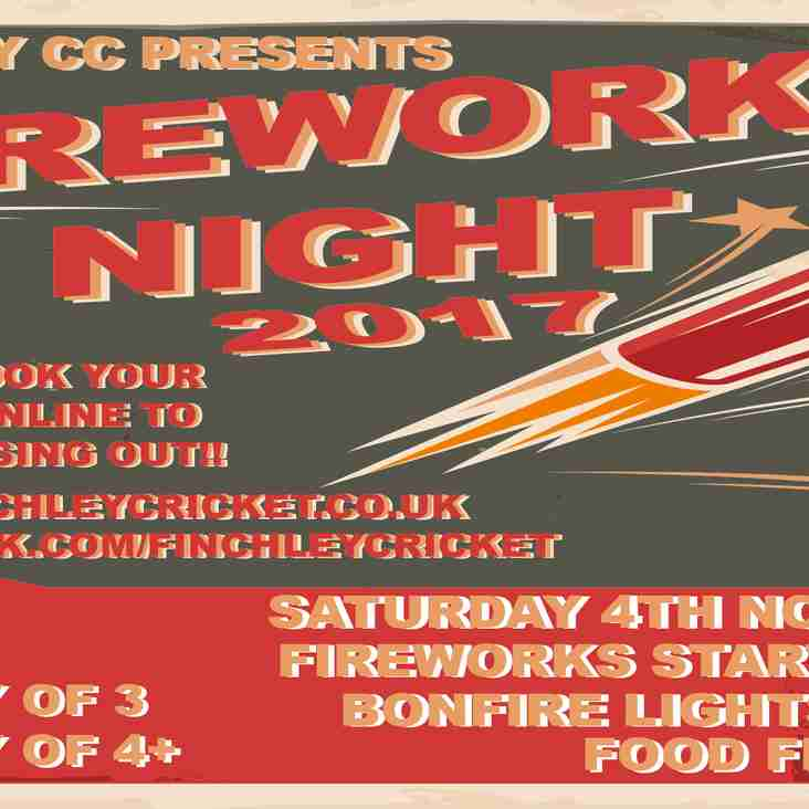 Fireworks Night 4th November 2017 from 5pm