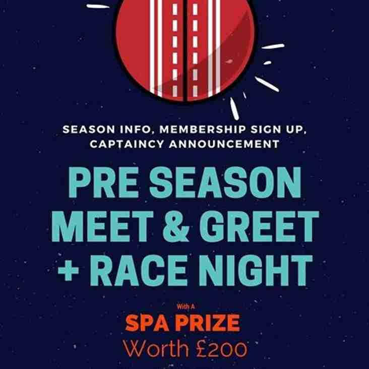 Finchley Girls/Women's Cricket - Pre-season meet & greet - Race Night fundraiser