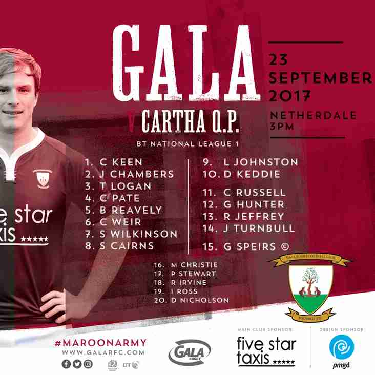 Saturdays Game V Cartha Queens Park. Gala looking for 4 in a row