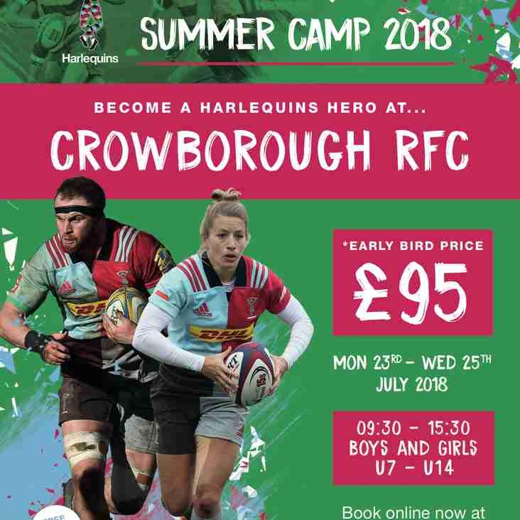 Harlequins Summer Camp returns to CRFC