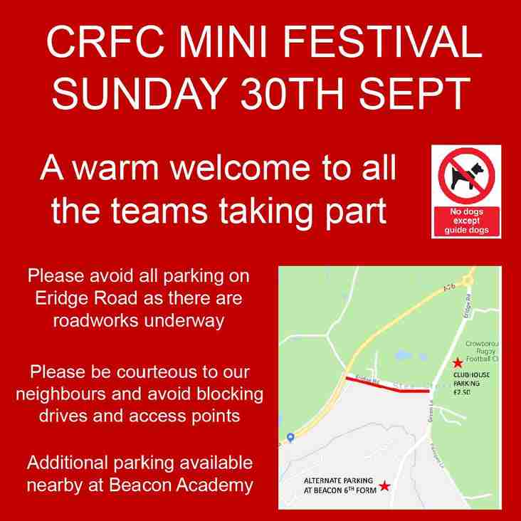 Mini Festival - Visitor notice