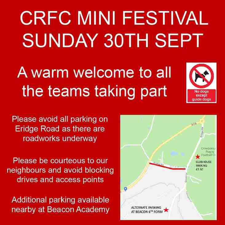 Mini Festival - Visitor notice