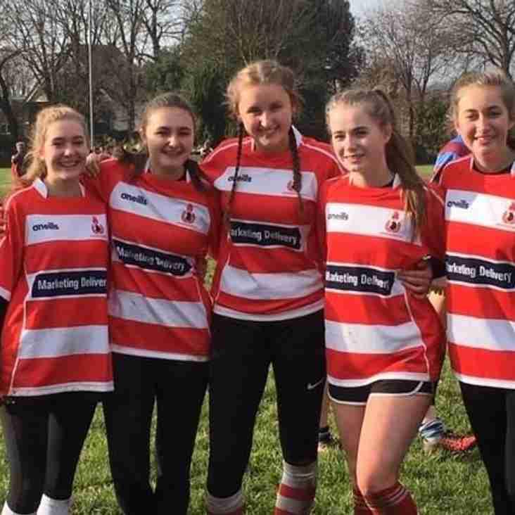 CRFC U18 girls play their first game!!