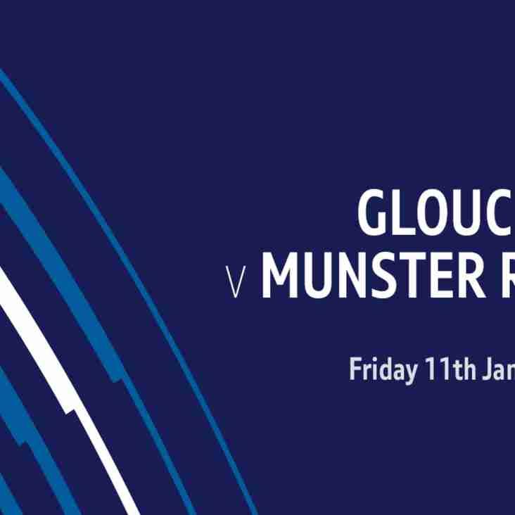 Watch Gloucester vs Munster live this Friday