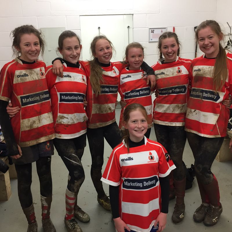 CRFC U13 & U15 girls have fun in the sun, wind & rain