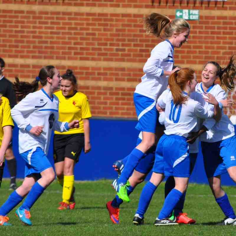 Hitchin Belles U15`s V Watford Hornets County Cup Final 2015