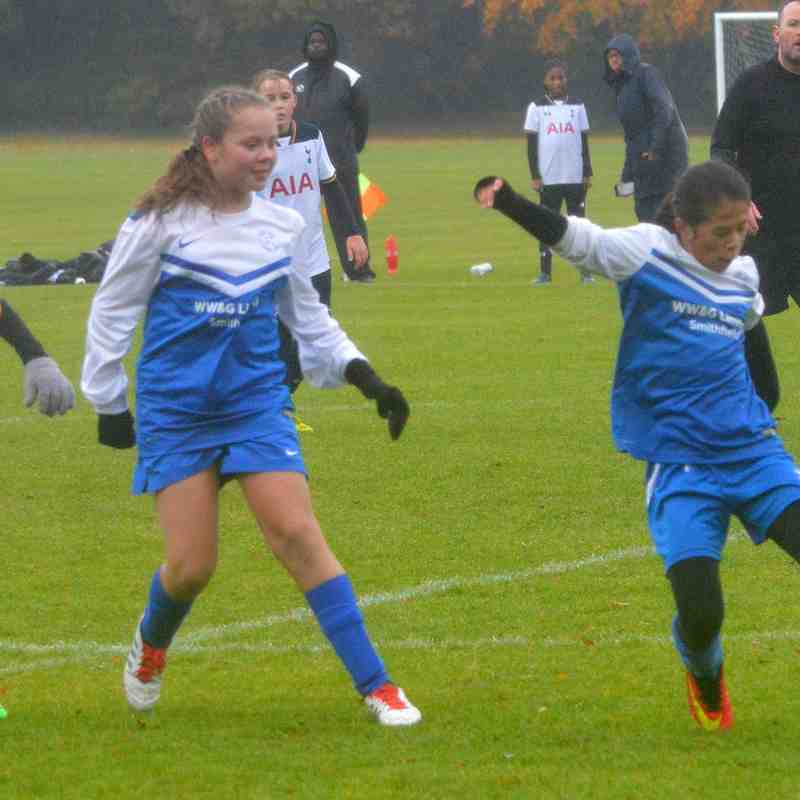 Hitchin Belles U12`s V Tottenham November 2016