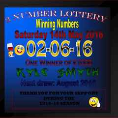 Winning Lottery Numbers : 2 - 6 - 16