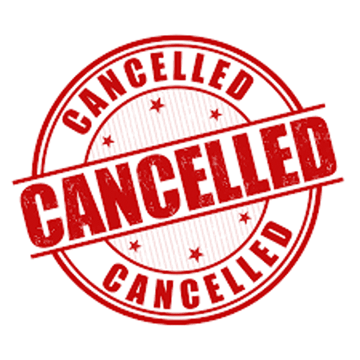 Games cancelled this weekend