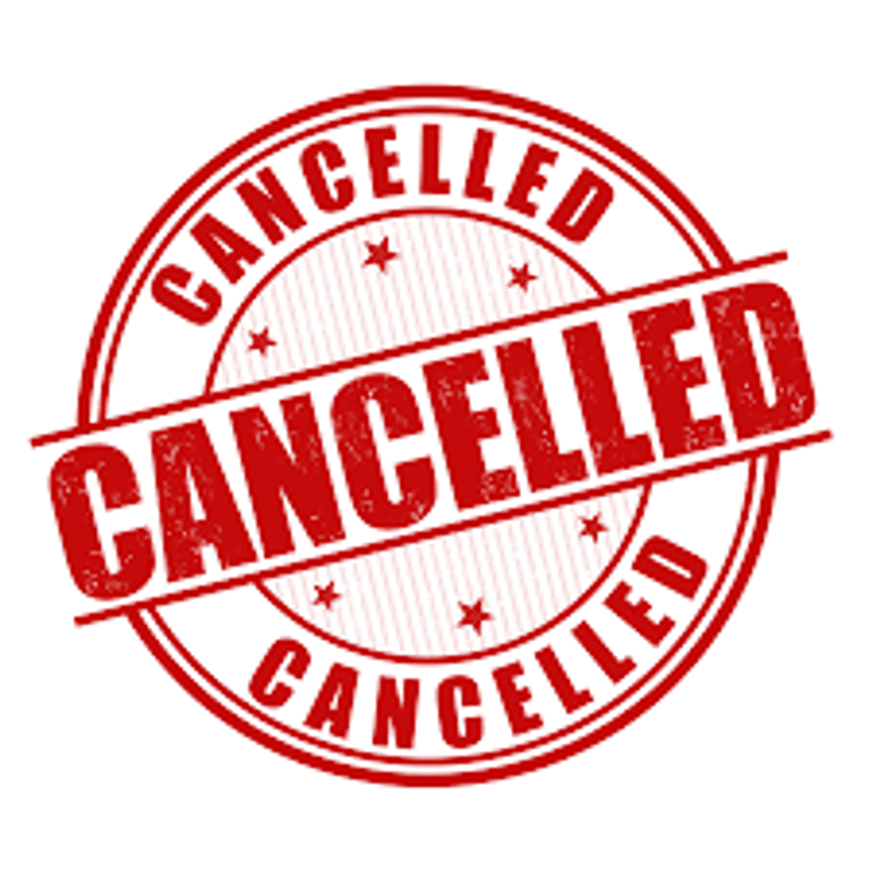 Training Cancelled - 17th Jan