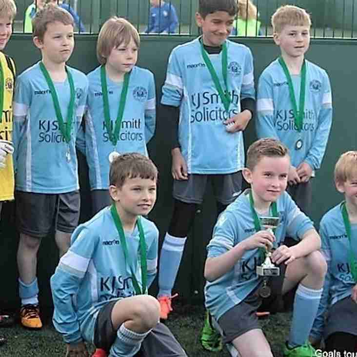 U9 Spitfires win in the plate section of Woodley Wanderers tournament