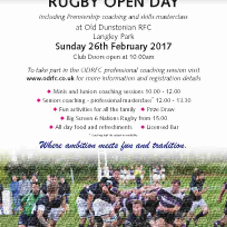 ODRFC Rugby Open Day