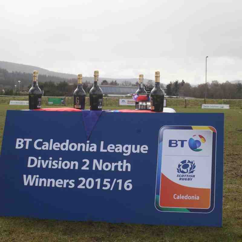 BT Caledonia Leage Division 2 North Winners 2015/16 - Cup Presentation