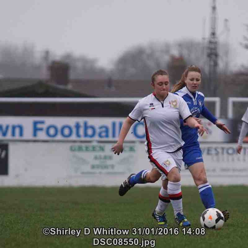 Lowestoft Ladies v MK Dons  LFC (Sunday 31 January 2016)