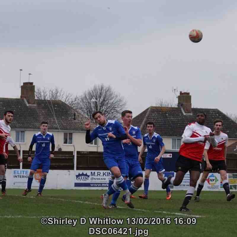 Lowestoft Town Reserves v Wivenhoe Town Reserves (Saturday 13 February 2016)