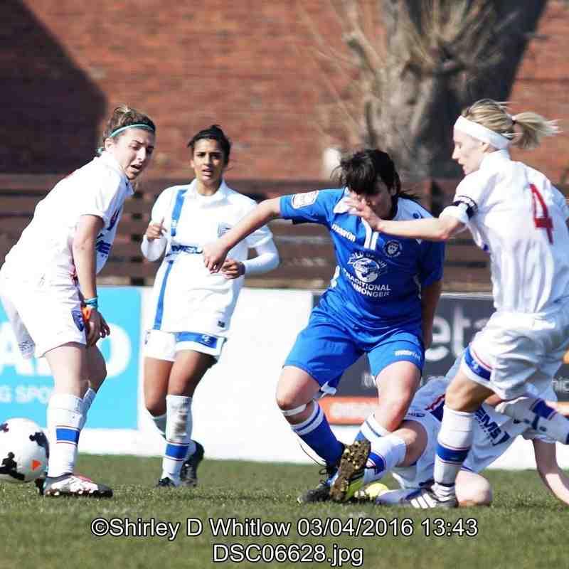 Lowestoft Ladies v Gillingham Ladies (Sunday 3rd April 2016)