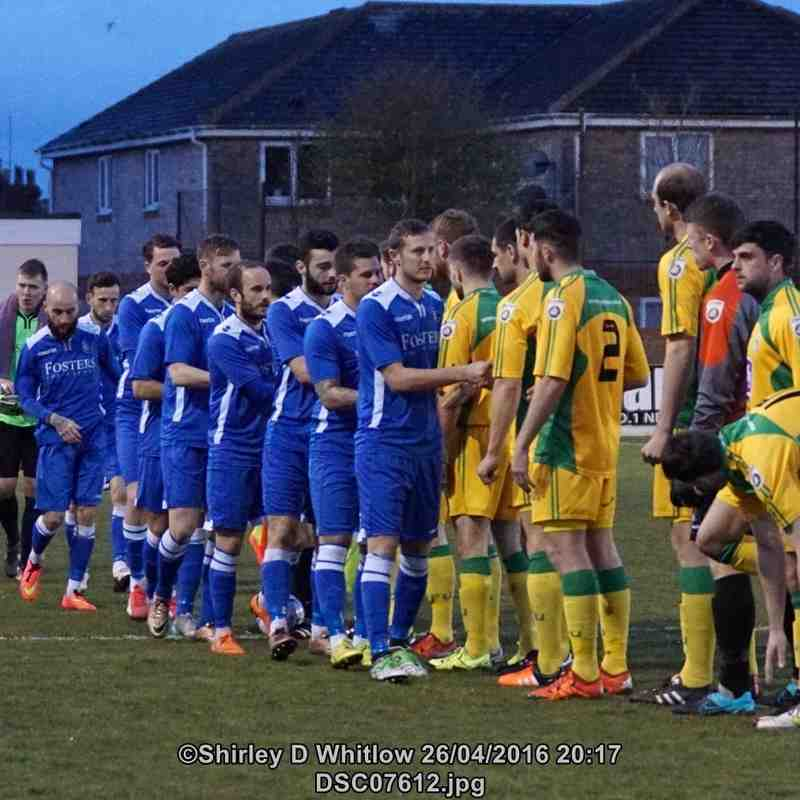 Lowestoft Town v North Ferriby United (Tuesday 26 April 2016)