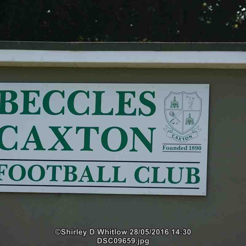 Gary Knights Memorial Match Beccles Caxton FC v Lowestoft Town Reserves (Saturday 28 May 2016)