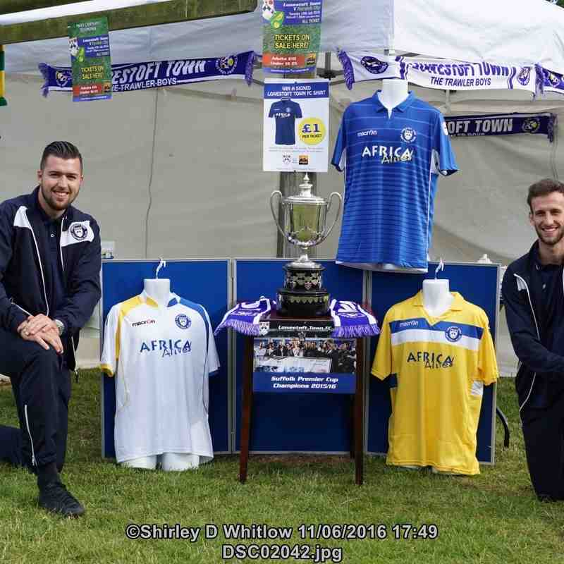 Lowestoft Town FC partnership Africa Alive (Saturday 11 June 2016)