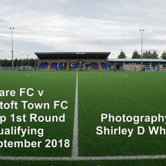 Ware FC v Lowestoft Town FA Cup 1st Round Qualifying (Saturday 8 September 2018)