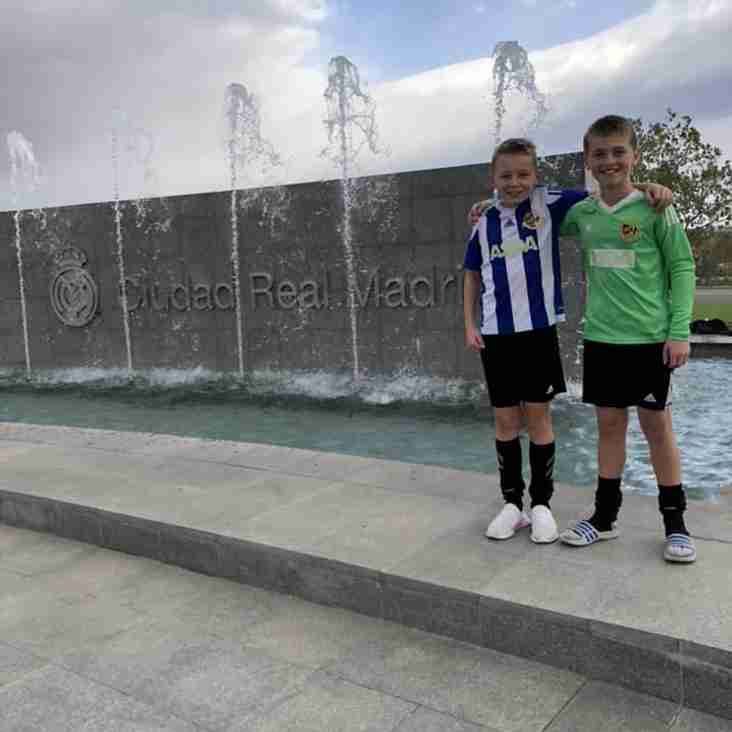 Worcester City boys train at Real Madrid