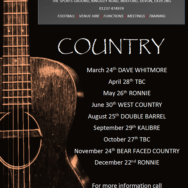 COUNTRY @ THE ROBINS NEST IN 2017