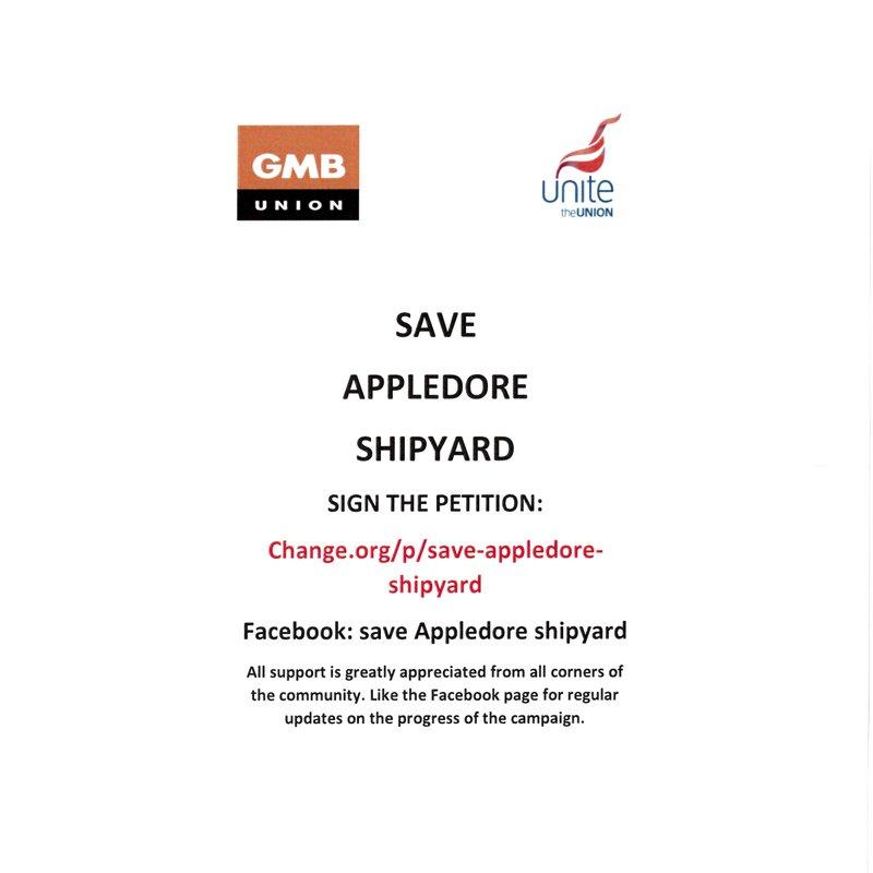 BIDEFORD AFC SUPPORT APPLEDORE SHIPYARD