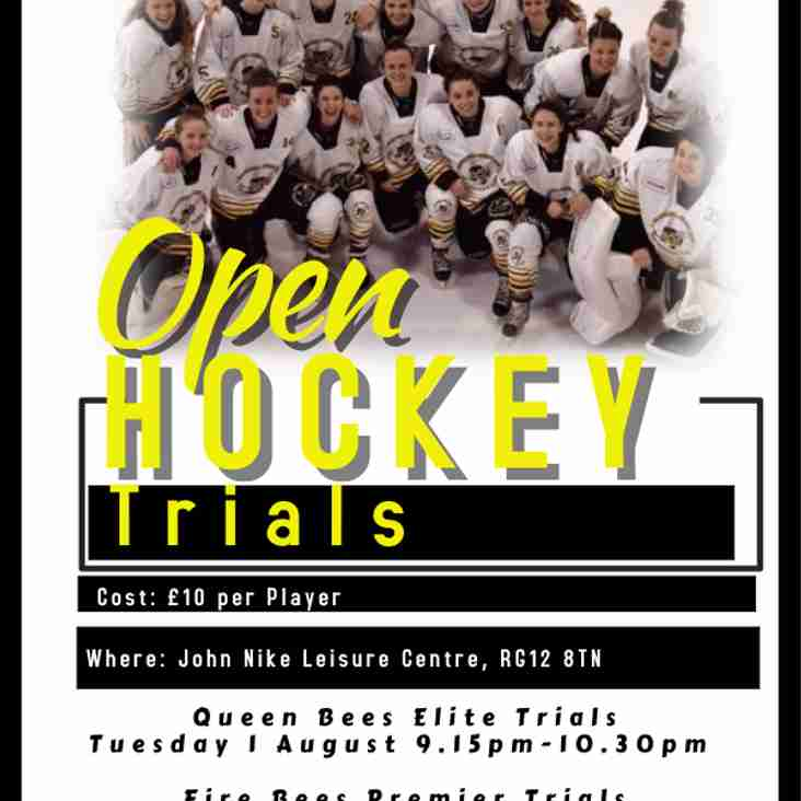 Open Hockey Trials at the Hive