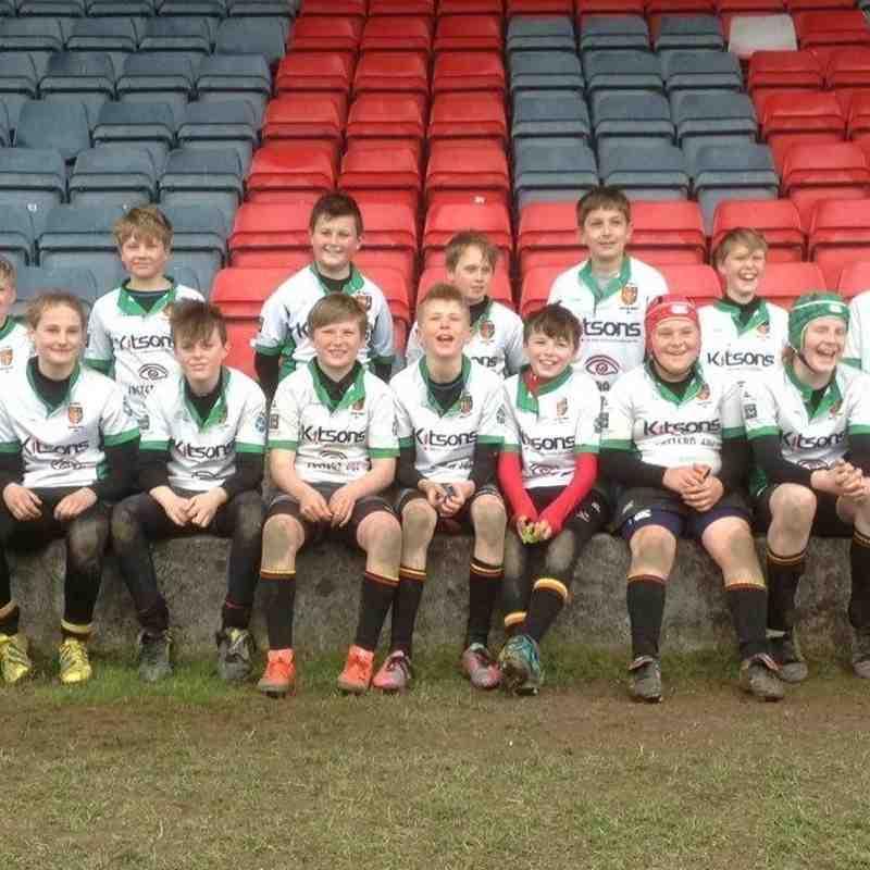 U12s rugby success
