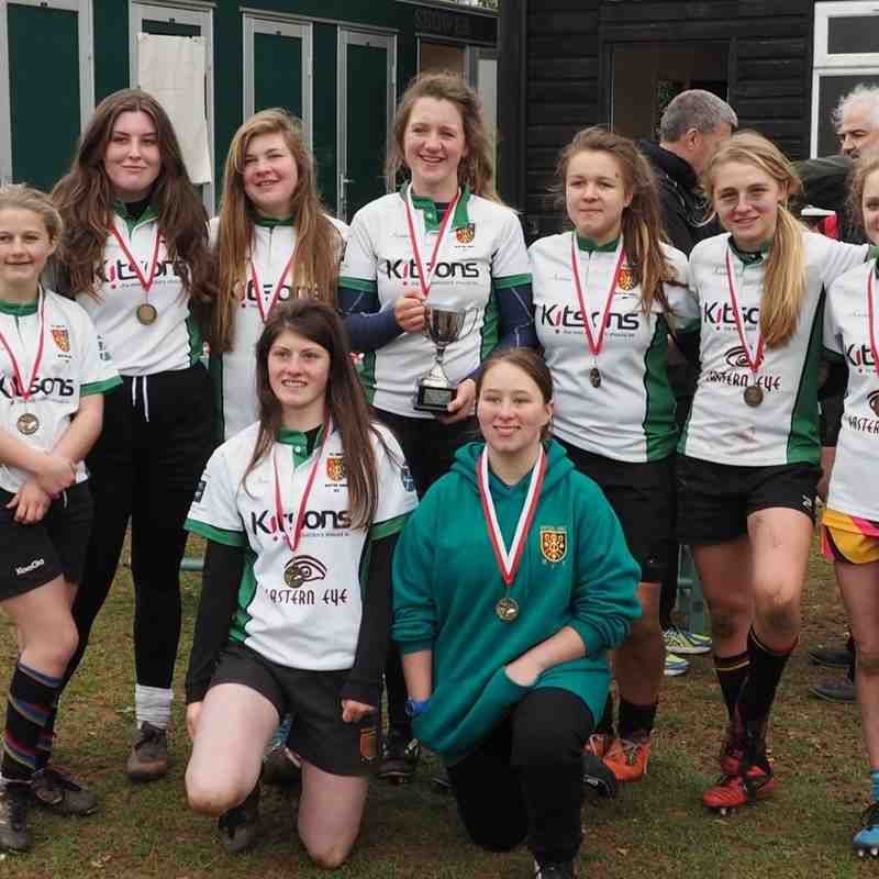 The U15 girls won the Bicton 7s Festival
