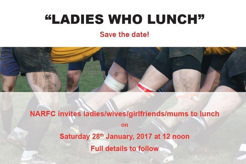 Ladies lunch : Saturday 28 January 2017