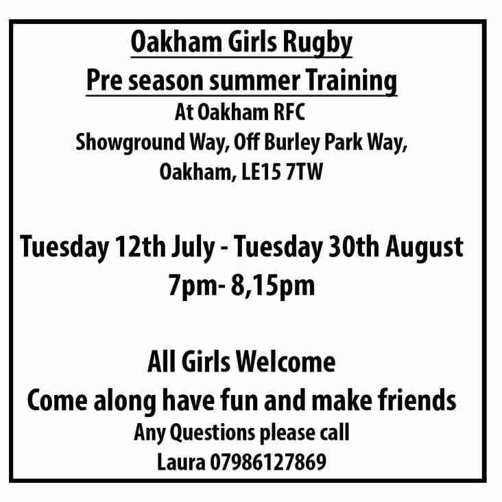 Pre season summer training