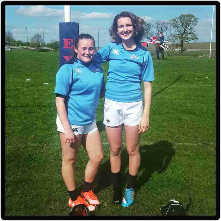 Oakham rfc girls play for midlands under 18s
