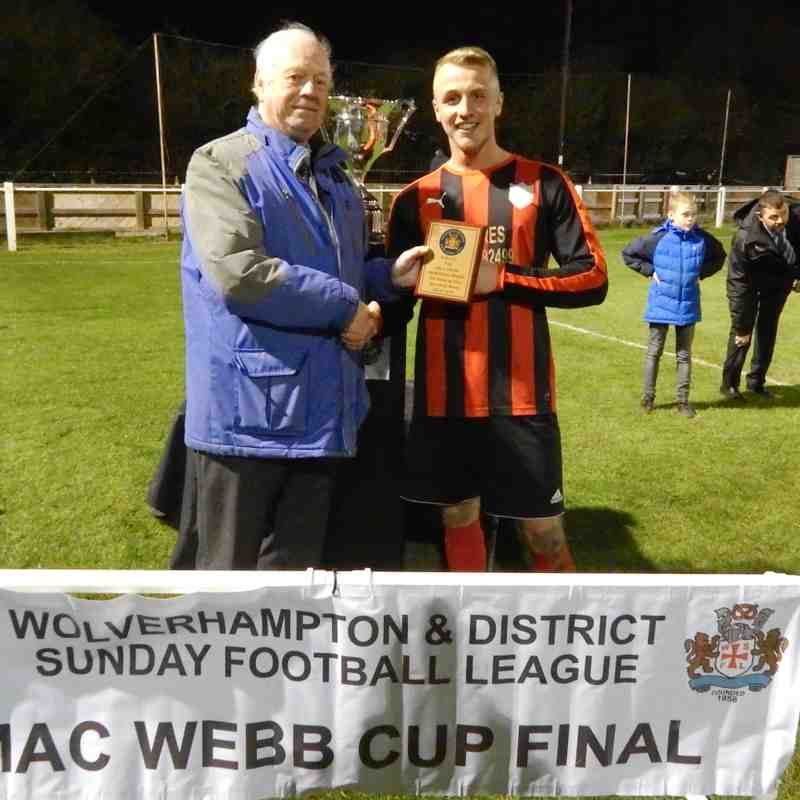 Winner of the Paul Stone Memorial Man of the Match Award  Golden Lion Lee Willets