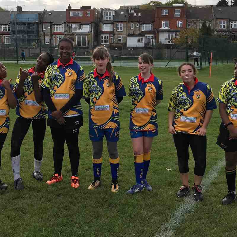 EIRFC U13 Girls @ Hackney Festival 04/11/18