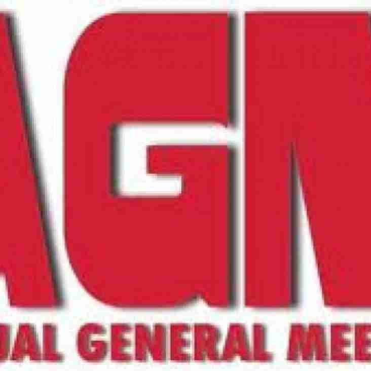 Cricket AGM Tuesday 22nd September 2015 7pm