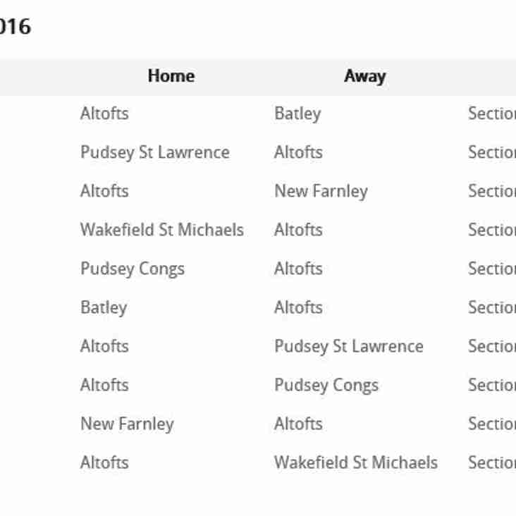 Sunday League Fixtures out now