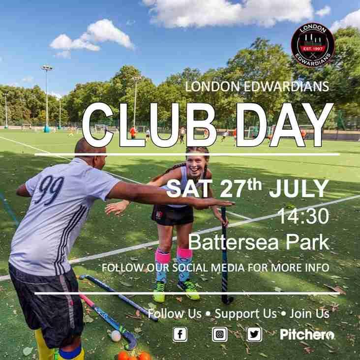 Club Day • Sat 27th July • 14:30