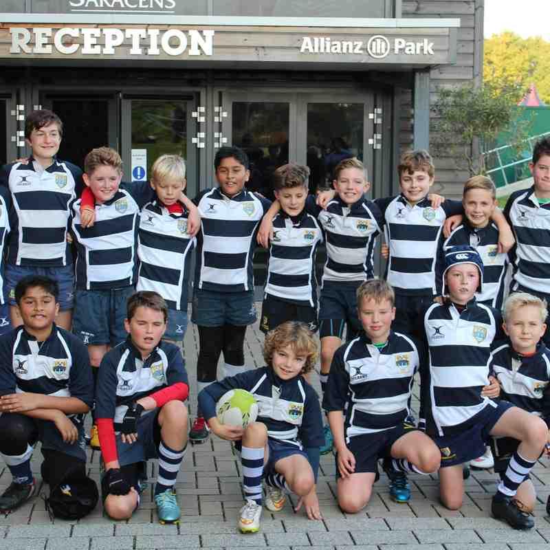 2015 October - Chelmsford U12's @ Saracens Oct 2015 - Train, Guard of Honour & Play