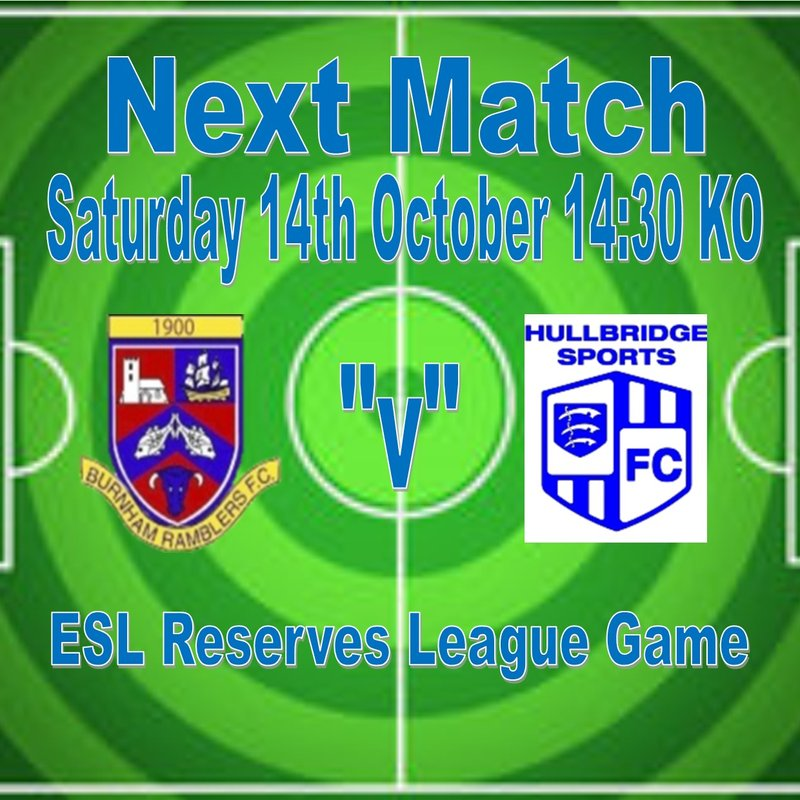 Reserves beat Hullbridge Sports FC Reserves 3 - 1
